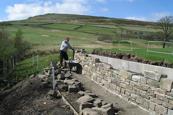 Repairing a wall